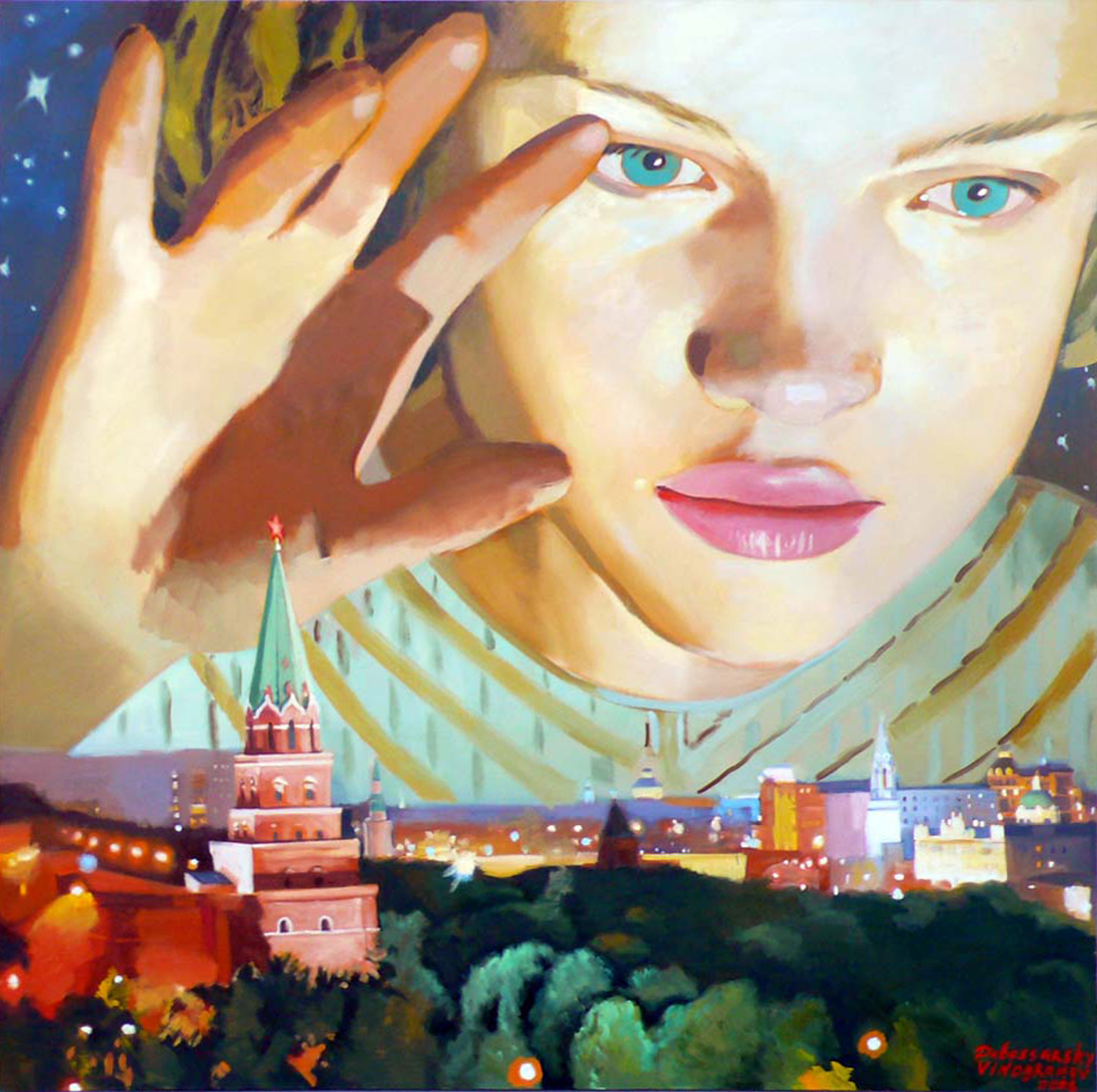 Dubossarsky & Vinogradov Above the Kremlin, 2008 oil on canvas, 195 x 195 cm 77 x 77 ins. Vladimir Dubossarsky and Alexander Vinogradov