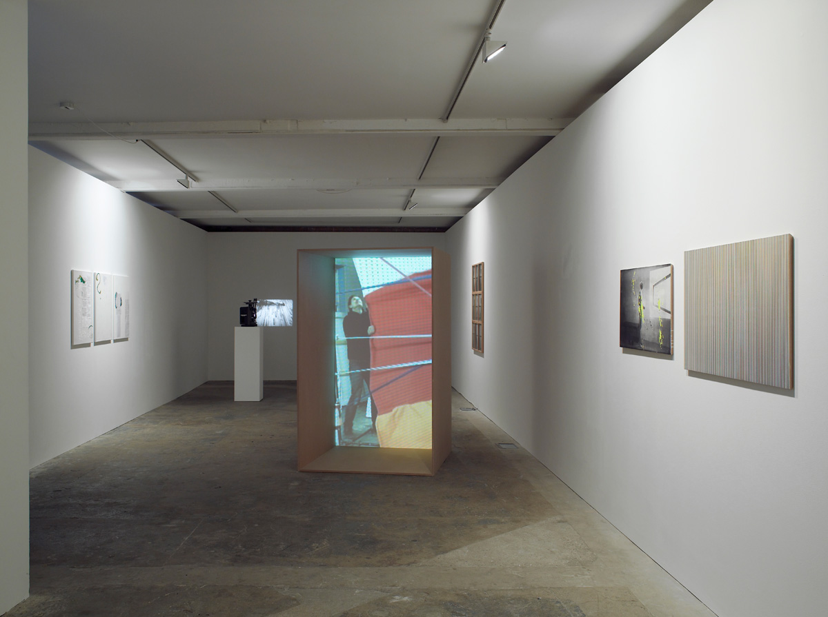 Installation view. The Inhabitants , Charles Atlas, Helena Almeida, João Maria Gusmão & Pedro Paiva, K8 Hardy, Alex Hubbard, DAS INSTITUT, Matt Mullican, R.H Quaytman, Josef Strau and Alex Waterman
