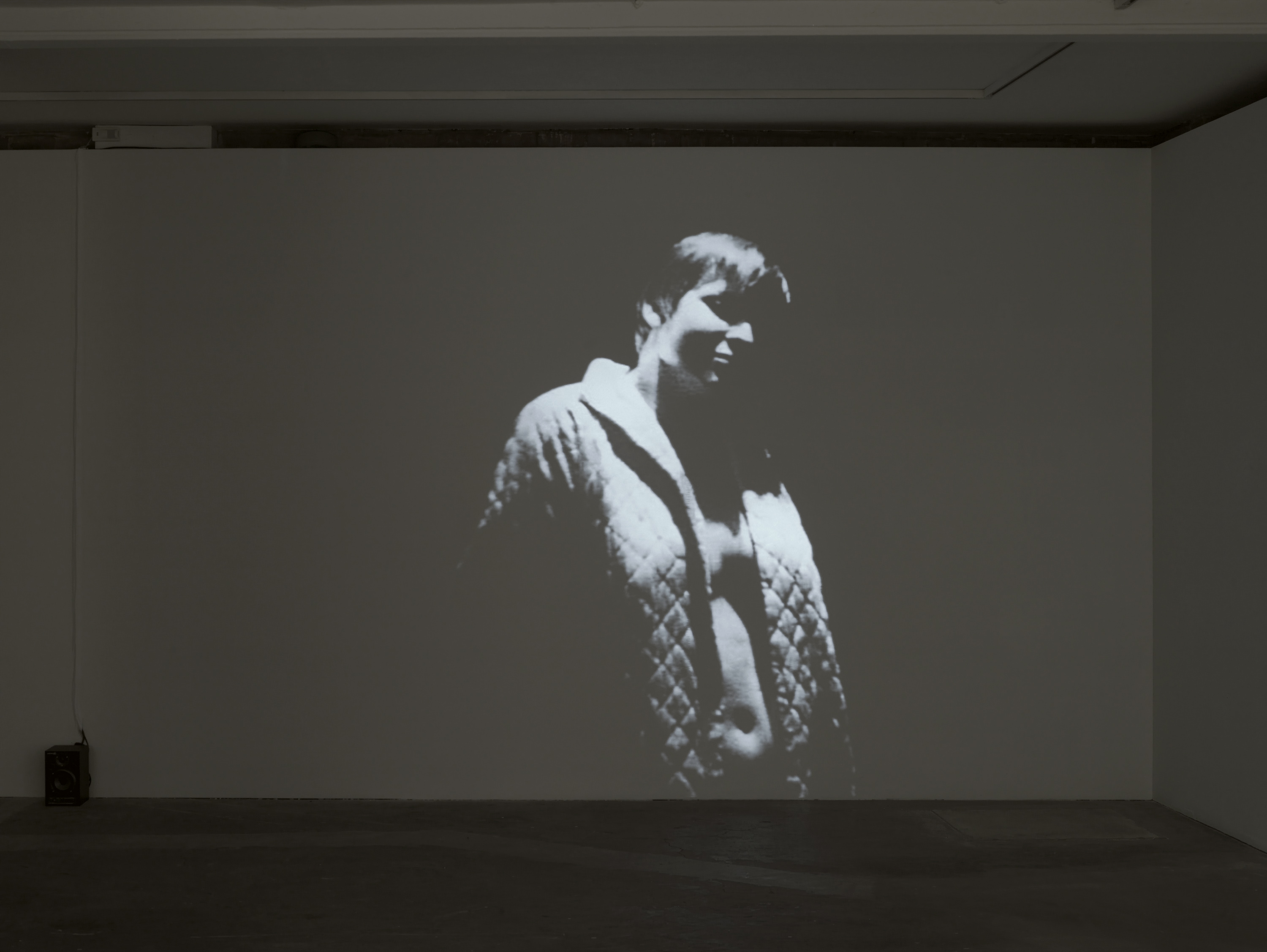 Take me, 1969, Black & White 16mm film transferred to dvd, 28mins, installation view. Stephen Dwoskin