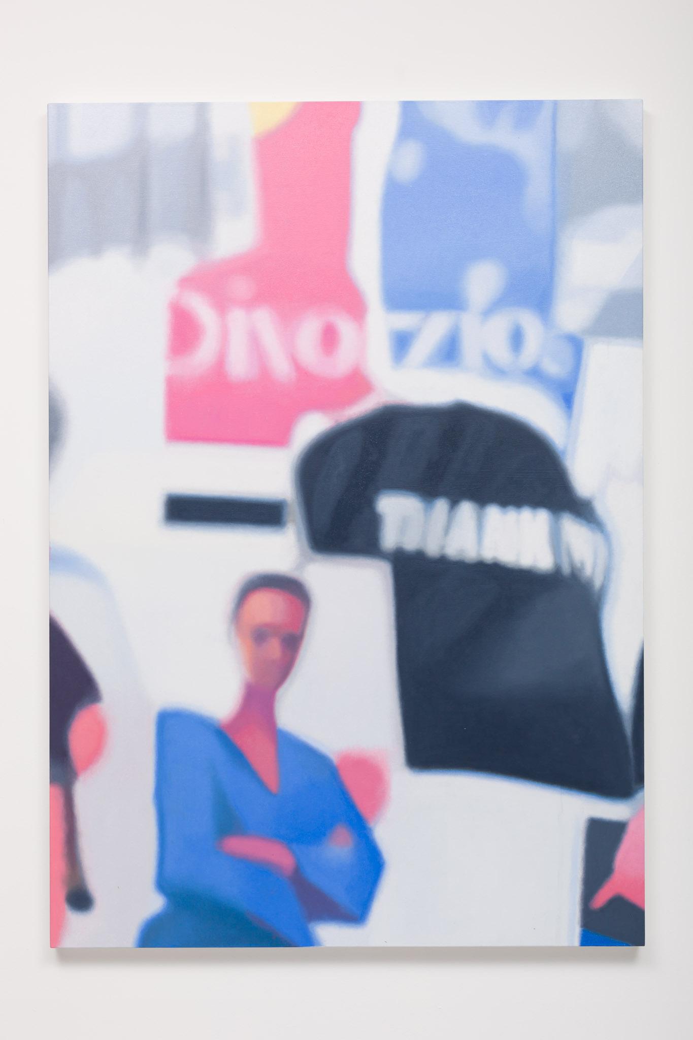 Alan Michael Personal Appearance, 2014 oil on canvas 145 x 102 cm 57 1/8 x 40 1/8 ins. P.A. , Alan Michael
