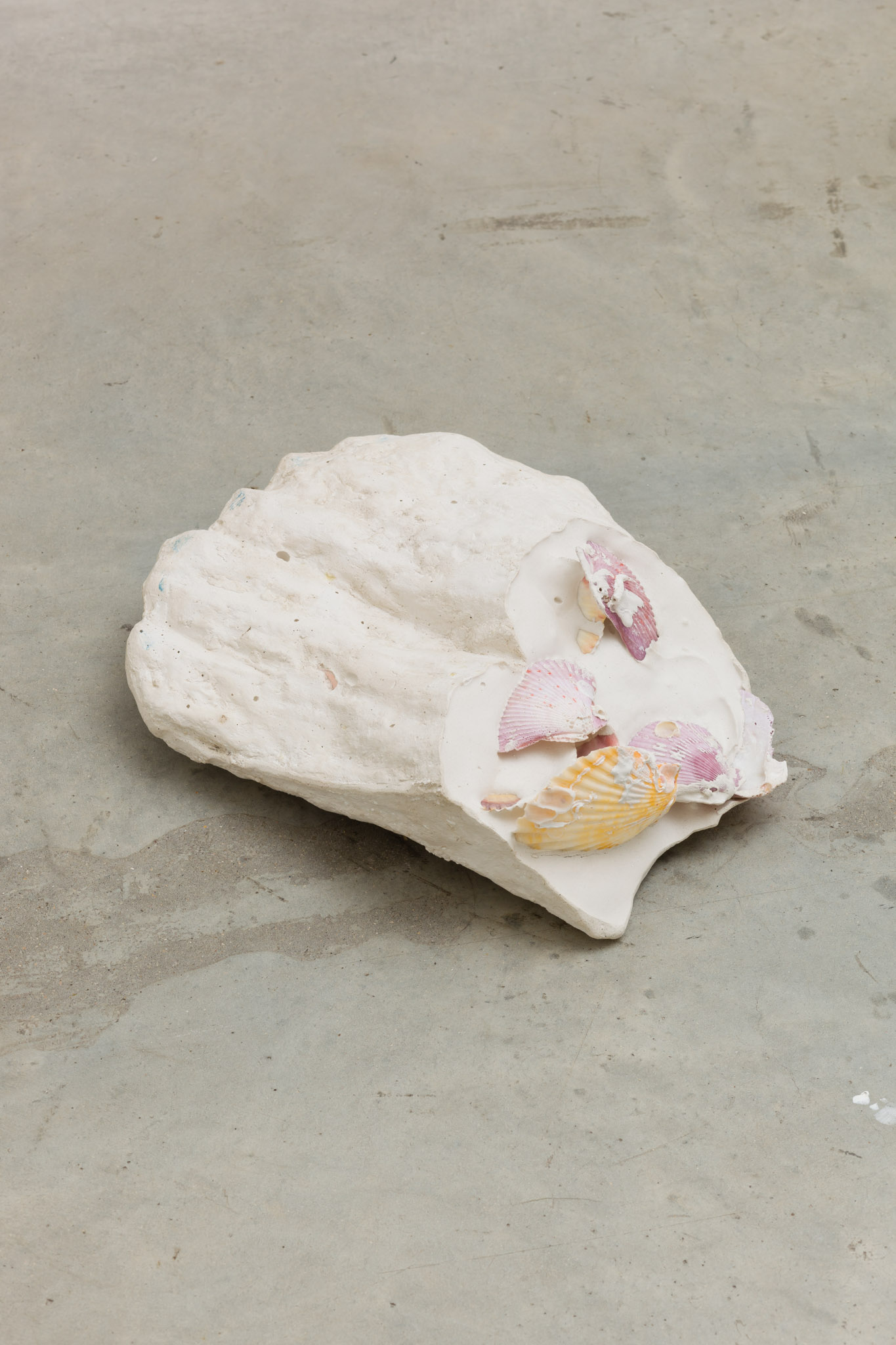 Anna Zacharoff, Diver (foot), 2014, shells, plaster, 31 x 10 x 26 cm, 12 1/4 x 4 x 10 1/4 ins. Thumb of the Diver , Anna Zacharoff presented by Neue Alte Brücke