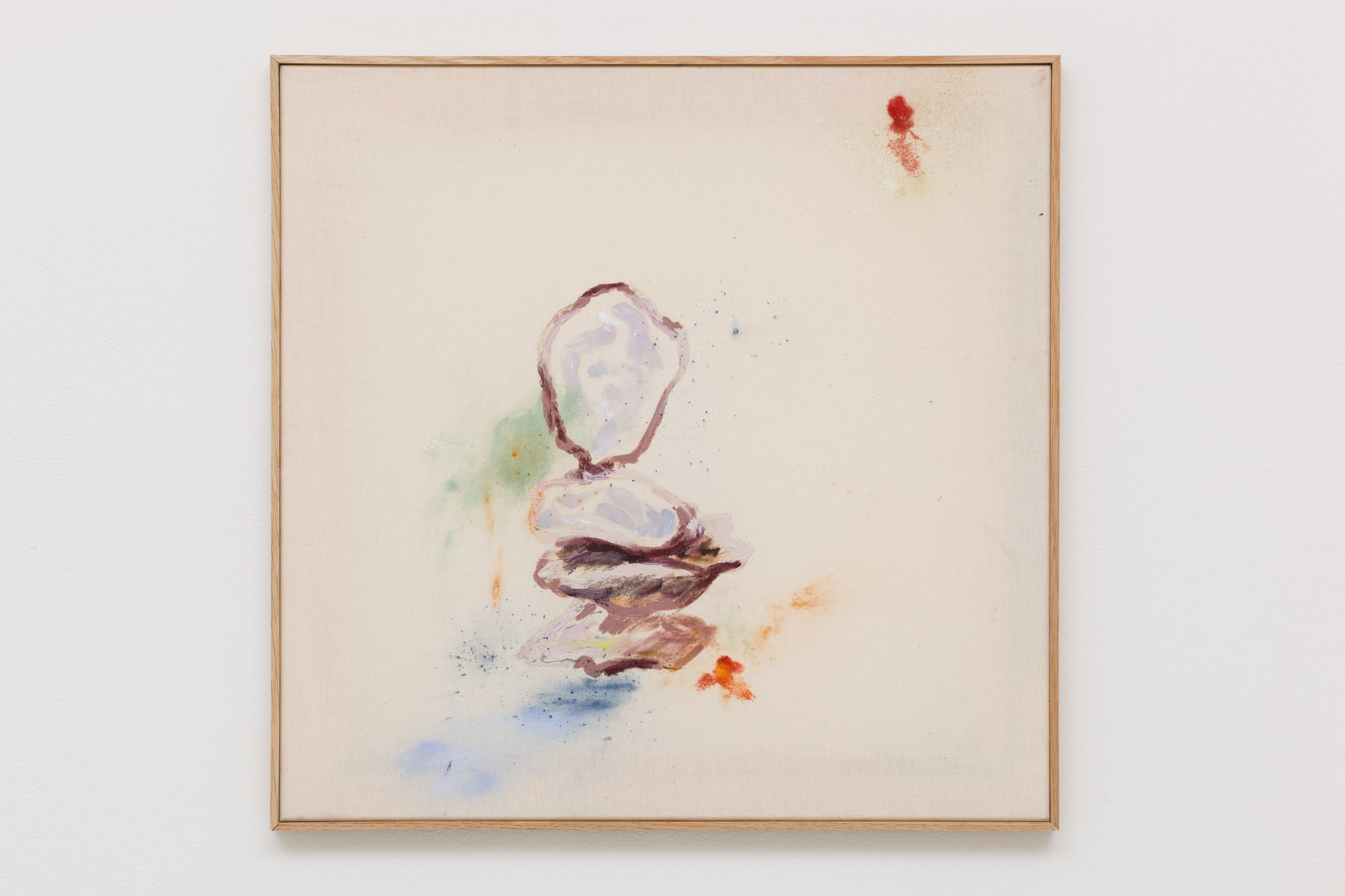 Anna Zacharoff, Oyster 2/7, 2014, oil and pigment on canvas, 51 x 50 cm, 20 1/8 x 19 3/4 ins. Thumb of the Diver , Anna Zacharoff presented by Neue Alte Brücke