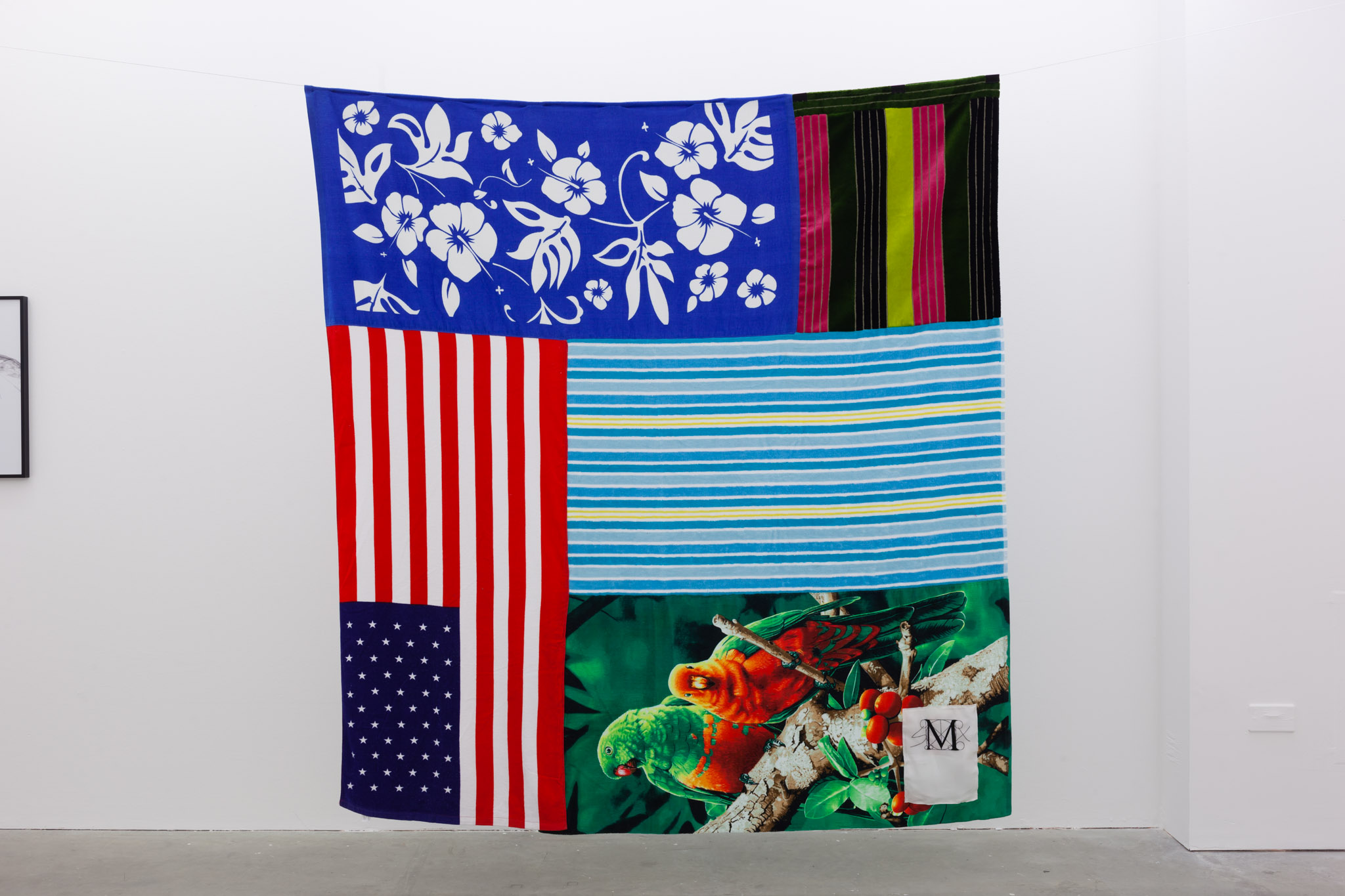 Decorative Wallhanging, 2014, towels, 210 x 205 cm, 82.68 x 80.71 ins. House of Gaga presents Single Moms