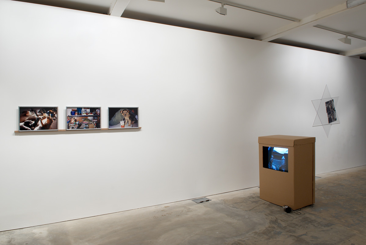 Installation view. A Mysterious Thing byStephan Dillemuth and Nils Norman.F.A. Lores , Nils Norman and Stephan Dillemuth, and F.A. Lores