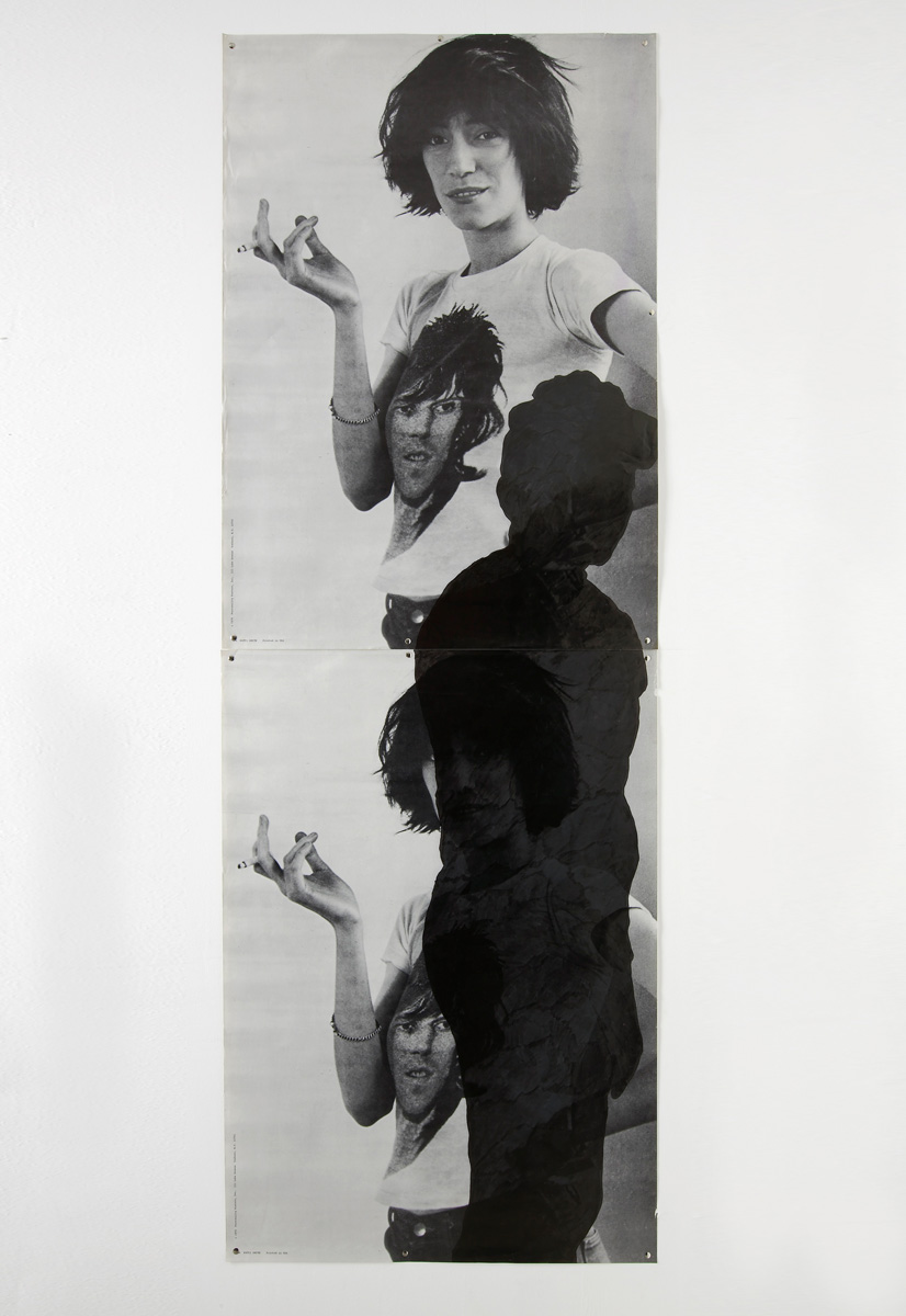 Them, 1981 poster, marker 206 x 72 cm 81 x 28 ins. Post Culture , Julia Wachtel