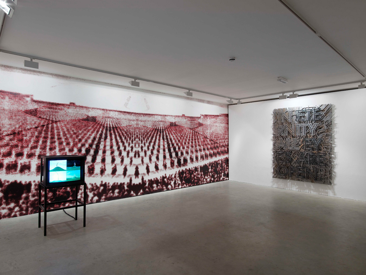 Installation view. Mark Titchner