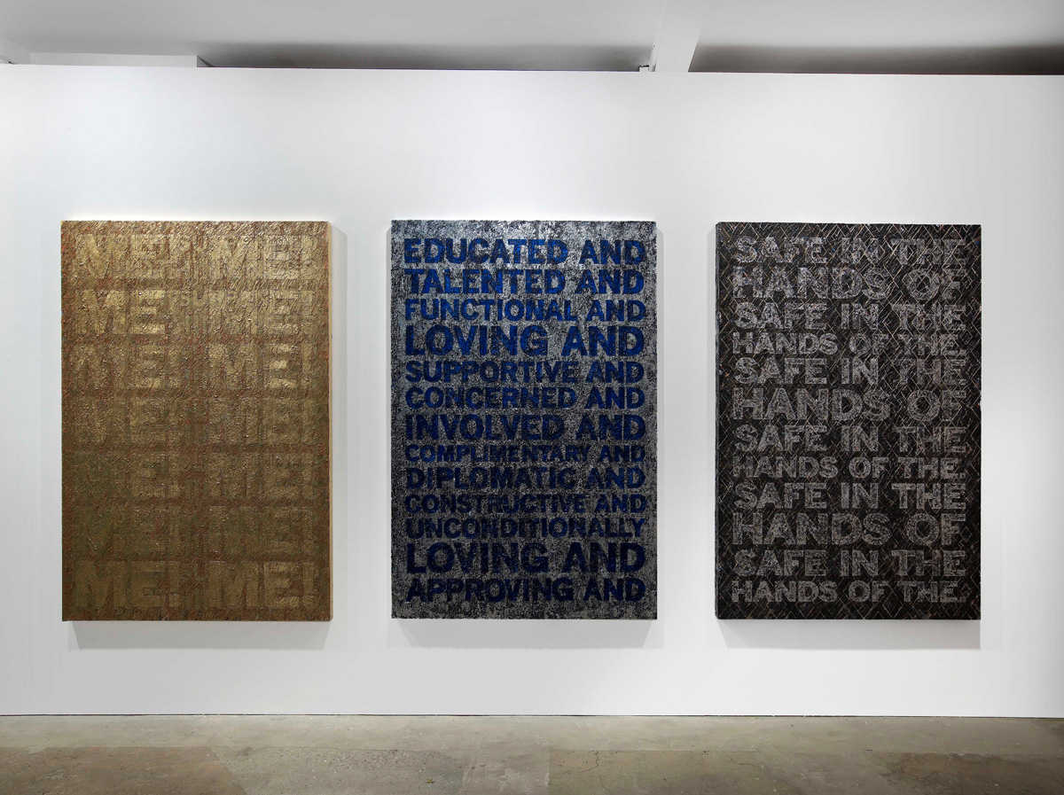 Installation view. Mark Titchner