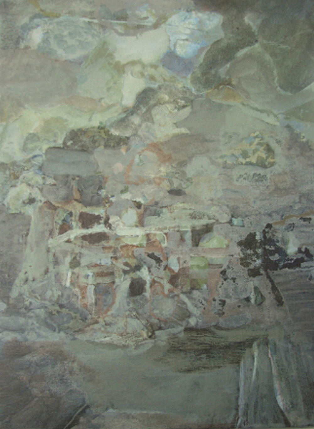 Young Ruins, 2008-9. Acrylic on canvas.  40 x 30 cms, 15 3/4 x 11 3/4 ins. Thomas Hylander