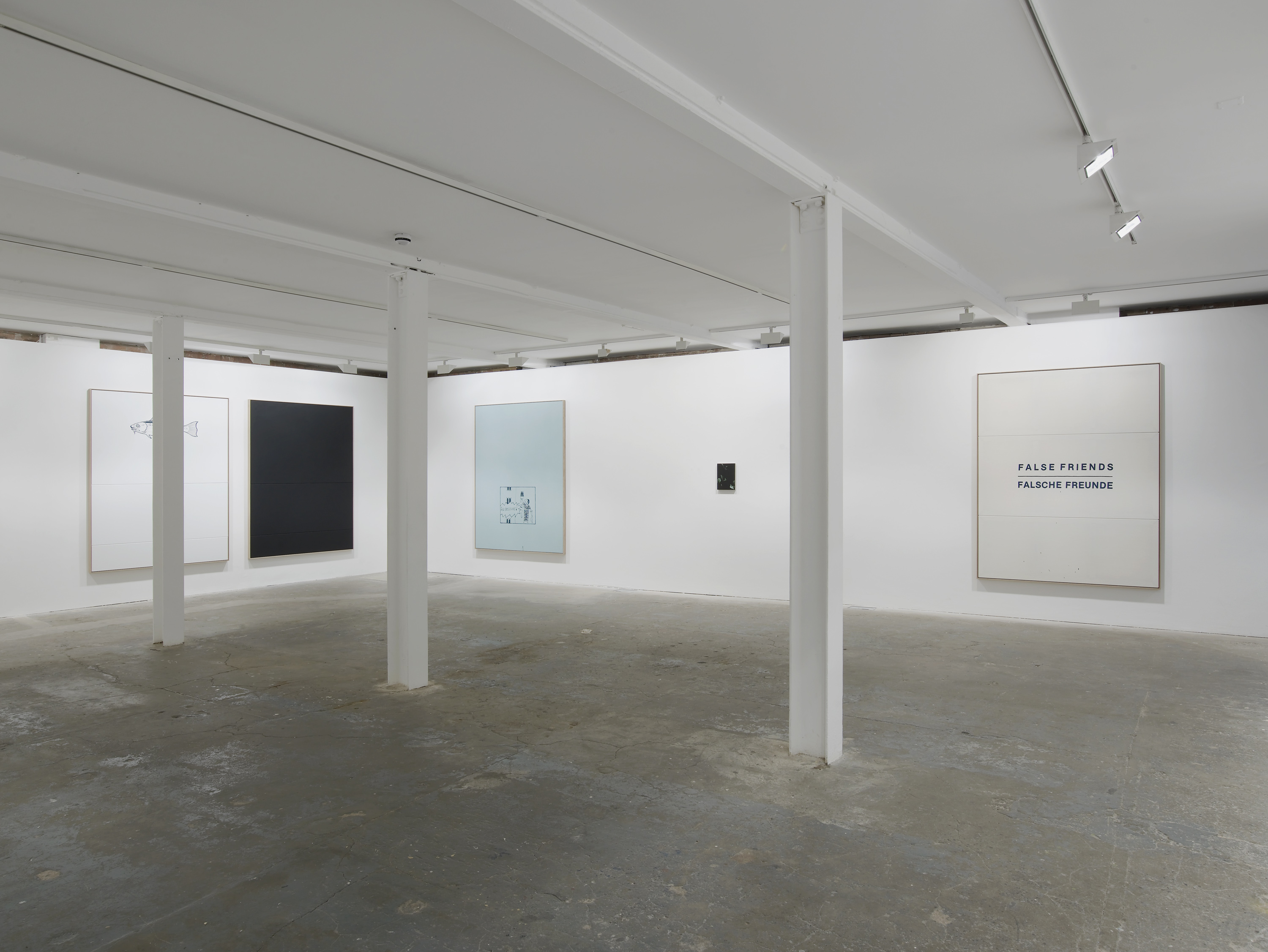 Installation view. False Friends Falsche Freunde , Oliver Osborne