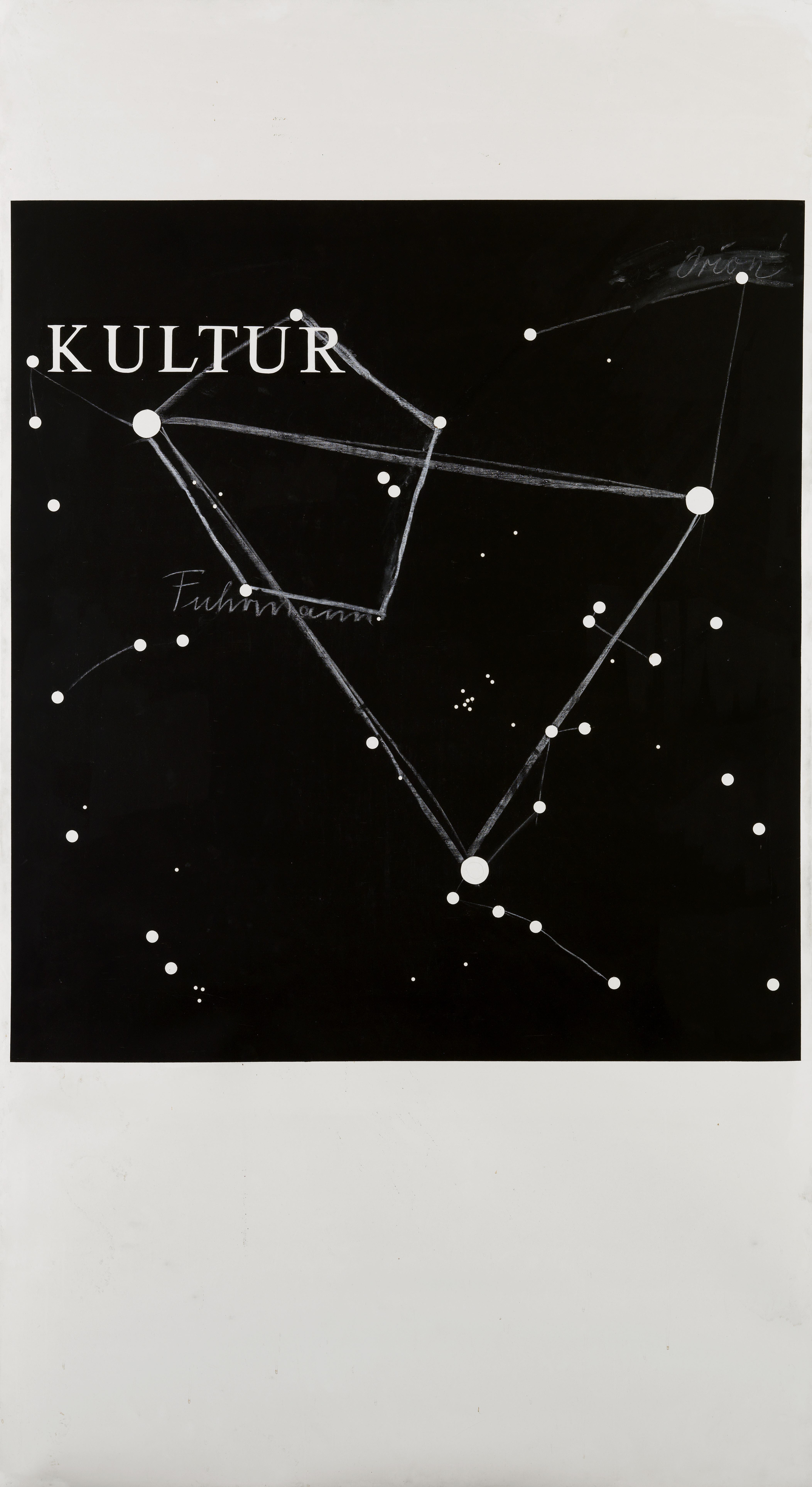 KP Brehmer, Kultur, 1974, Paint, chalk on melamine 220 x 120 cm / 86 5/8 x 47 1/4 ins. KP Brehmer