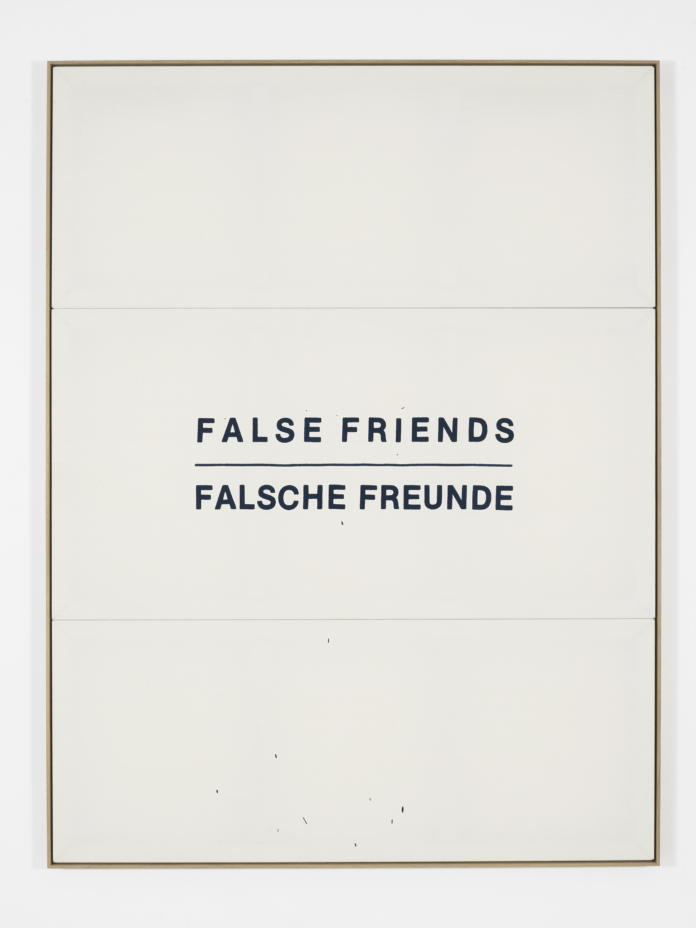 False Friends Falsche Freunde, 2016, Embroidered linen 215 x 164 cm, 84 5/8 x 64 5/8 ins. False Friends Falsche Freunde , Oliver Osborne