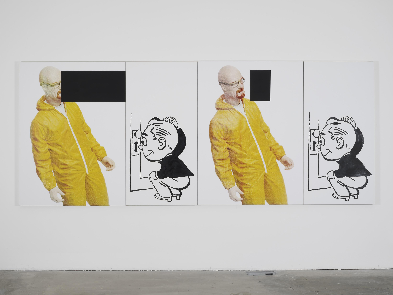 Julia Wachtel, Untitled (bad), 2015, oil, acrylic ink and flashe, on canvas, 152.4 x 381 cm, 60 x 150 ins. Julia Wachtel