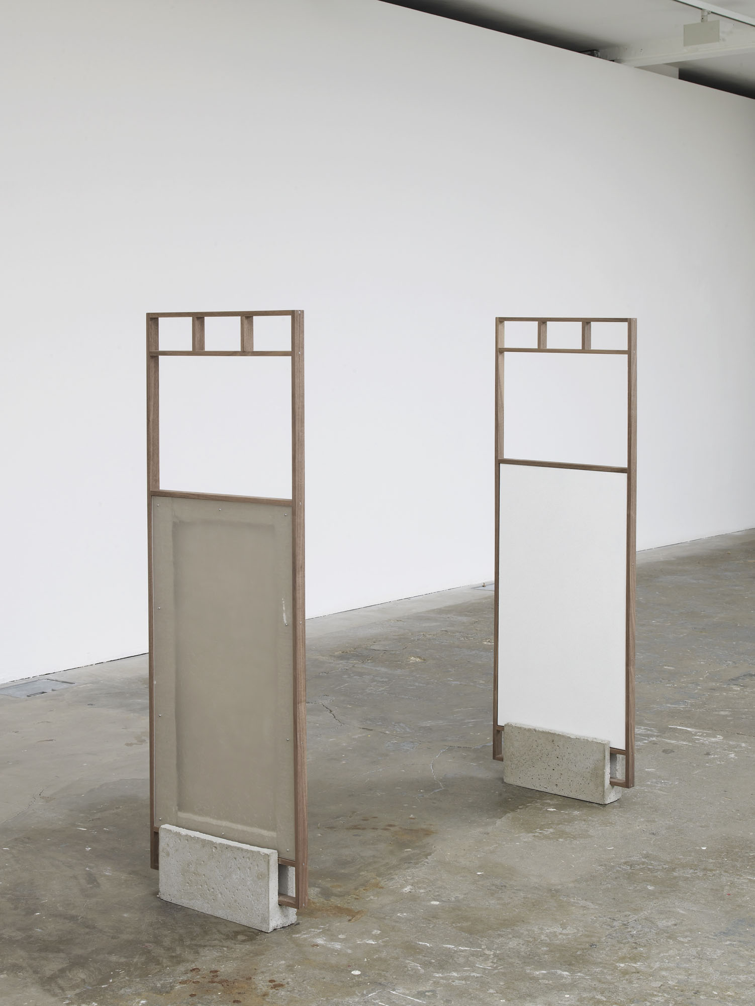 Significant Other, 2016 Walnut frame, cement plinth, engraved metal label, lacquer on canvas, acrylic glass 140 x 46 x 9 cm 55 1/8 x 18 1/8 x 3 1/2 ins. 2 , Philipp Timischl