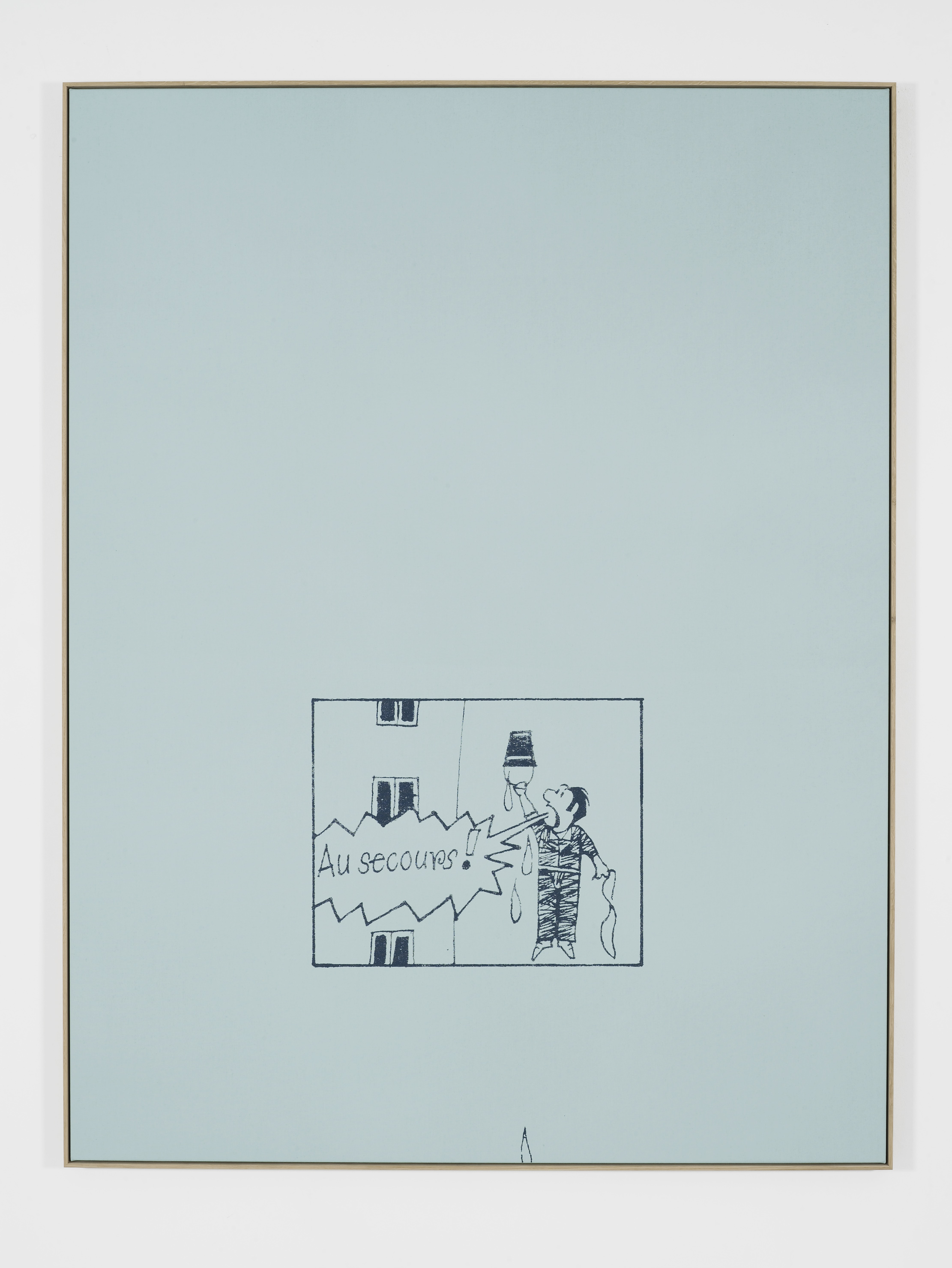 Au Secours!, 2016, Silkscreen and acrylic on linen, oak frame, 215 x 164 cm, 84 5/8 x 64 5/8 ins. False Friends Falsche Freunde , Oliver Osborne