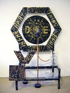 Installation View. We Were Thinking of Evolving , Mark Titchner