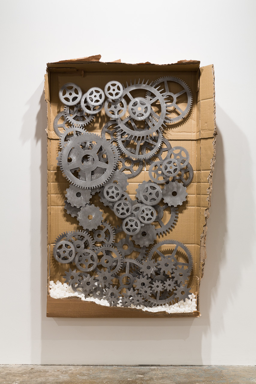 tech (#2), 2015, cardboard, steel, polystyrene, 92 x 154 cm. Arbeidsvitaminen , Marlie Mul