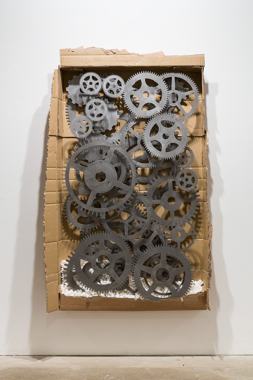 tech (#1), 2015, cardboard, steel, polystyrene, 92 x 154 cm. Arbeidsvitaminen , Marlie Mul