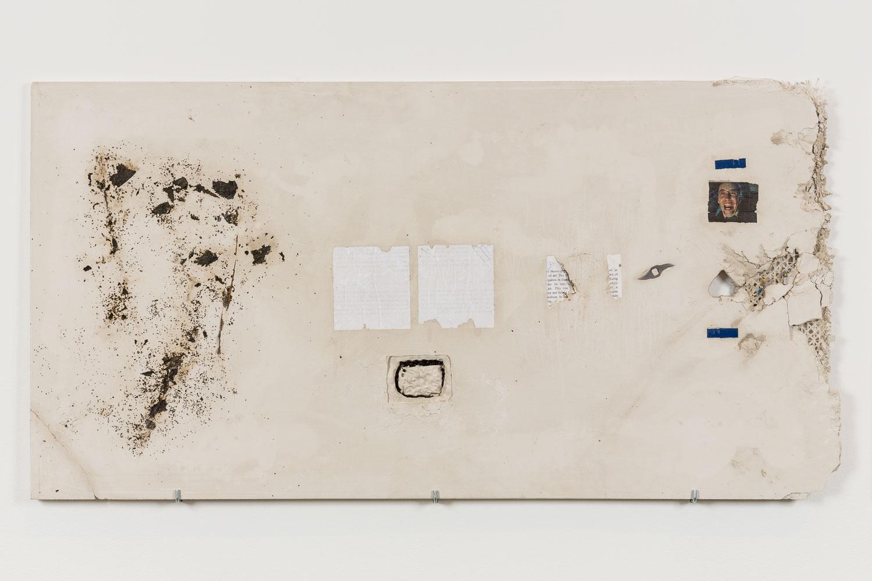 George Rippon Social Selfie, 2015 Nettles, paper, thorns, lentils, blender blade, models, plaster 58.5 x 112 cm 23 x 44 ins. Now Panic , George Rippon