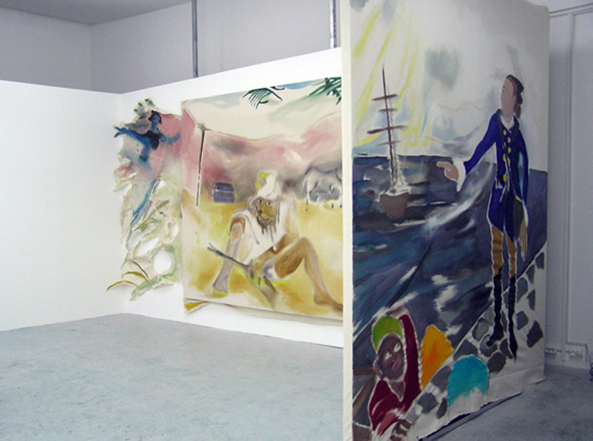 Installation view. No Good Man Island (Berlin Project Space) , Sophie Von Hellermann and Brian Griffiths