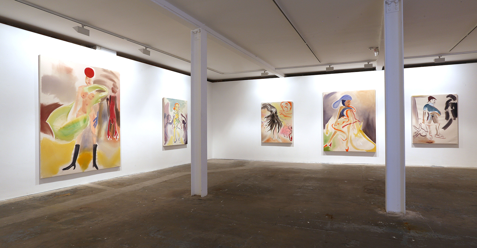 Installation view. After a Fashion – A Play with Fire , Sophie von Hellermann