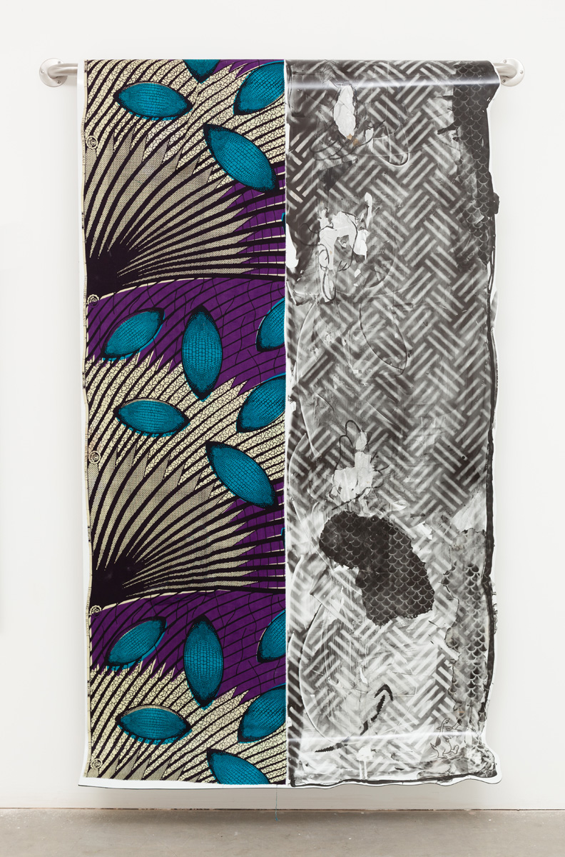Lucas Knipscher Untitled, 2013 Fabric and photographic emulsion on dibond 213.4 x 109.2 cm 84 x 43 ins. Lucas Knipscher