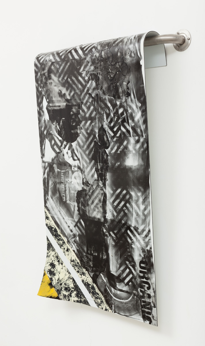 Lucas Knipscher Untitled, 2013 Fabric and photographic emulsion on dibond 121.9 x 61 cm 48 x 24 ins. Lucas Knipscher