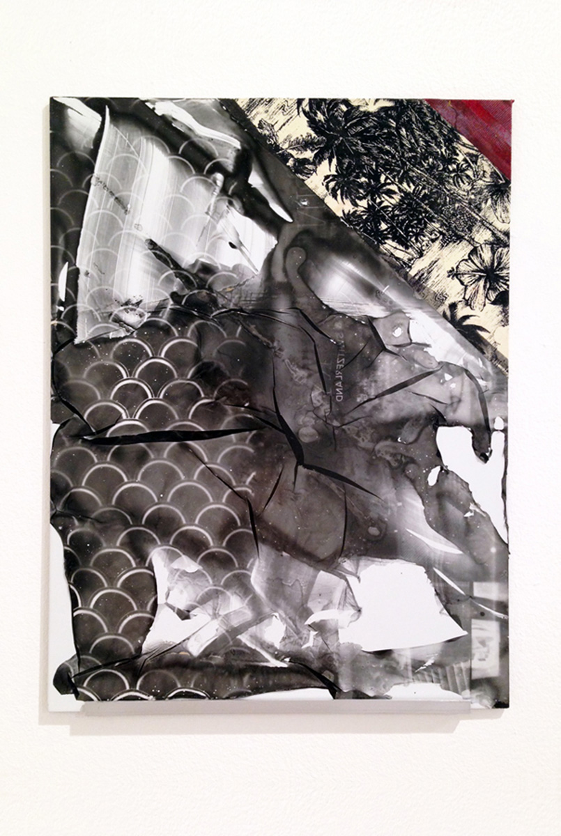 Lucas Knipscher Untitled, 2013 Fabric and photographic emulsion on dibond 40.6 x 30.5 cm 16 x 12 ins. Lucas Knipscher