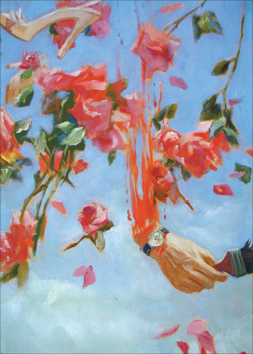 Dubossarsky & Vinogradov Cutting Hand (the artist and his model), 1998 oil on canvas 140 x 90 cm. Dubossarsky & Vinogradov